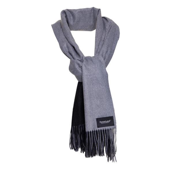 écharpe grise noire